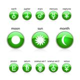 All zodiac green Royalty Free Stock Images
