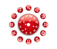 All zodiac red. On a white background Royalty Free Stock Photography
