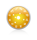 All zodiac red. Vecotr All zodiac orange on a white background Royalty Free Stock Photo