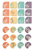 All Zodiac symbol icon royalty free stock photos