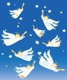alla änglar några individuella objekt för julelementillustration skalar formattexturer till vektorn Arkivbild