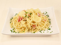 alla 3 spaghetti carbonara Obrazy Royalty Free