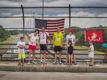 Alla amerikanska familjer på Juli 4th Arkivfoton