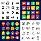 Alla andra sätt av kommunikationen i en symboler uppsättning för design för svart- & vitfärglägenhet Freehand Arkivbilder