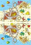 alla ankarbröstkorgskillnader finner skatten royaltyfri illustrationer