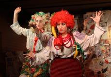 Alla Baglei and Anastasia Skoreiko performs show Stock Photos