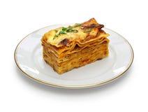 Alla bolognese, итальянская кухня лазаньи стоковые изображения rf