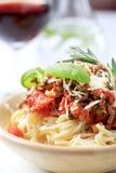 Alla boloñés del espagueti Fotografía de archivo libre de regalías