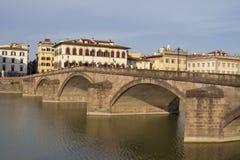 Alla Carraia bridge in Florence, Italy Stock Image