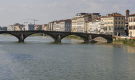 Alla Carraia-brug in Florence Stock Foto's