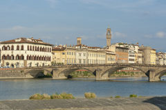 Alla Carraia-brug in Florence Royalty-vrije Stock Foto