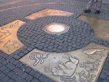 alla Central Europe punktvägar Royaltyfri Bild