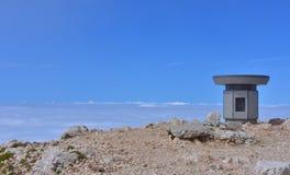 Alla cima della montagna Fotografia Stock Libera da Diritti