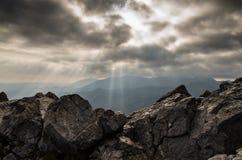 Alla cima della montagna di Giewont Fotografie Stock