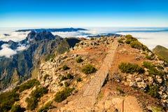 Alla cima di più alta montagna del Madera Immagine Stock