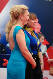 Alla Dovlatova and Natalia Gromushkina at Moscow Film Festival Royalty Free Stock Images
