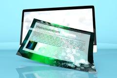 Alla ett modernt i en dator med en generisk website Fotografering för Bildbyråer