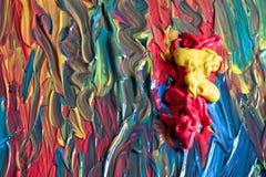 Alla färger av världen i en palett som är klar att måla arkivfoto