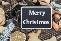Alla för framställning av hemlagade kakor för jul Arkivfoton