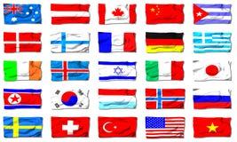 alla flaggor Fotografering för Bildbyråer