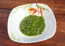 Alla Genovese, Basil Sauce do Pesto Fotos de Stock Royalty Free
