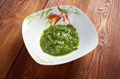 Alla Genovese, Basil Sauce do Pesto Imagem de Stock Royalty Free