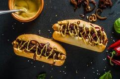 Alla gnäller hotdogs Royaltyfria Foton