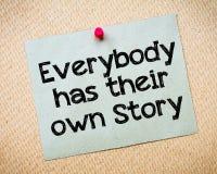 Alla har deras egen berättelse Royaltyfri Fotografi