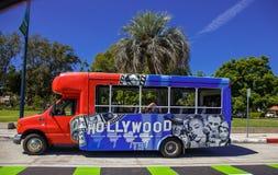 Alla Hollywood filmruttbussen för smakar arkivfoton