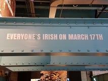 Alla irländare för ` s på mars 17th, tecken Royaltyfri Bild