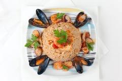 Alla italien Pescatora de Risotto Image stock