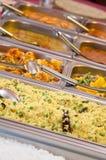 Alla kan du äta lunchbufféval av mål Royaltyfria Foton