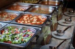 Alla kan du äta lunchbufféval av mål Royaltyfria Bilder