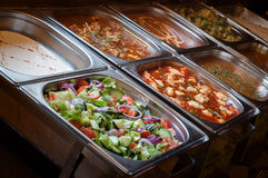 Alla kan du äta lunchbufféval av mål Royaltyfri Bild