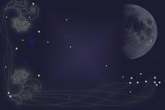 Alla luna ed alla parte posteriore Fotografia Stock
