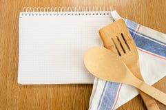 Alla matlagningrecept på min anteckningsbok Royaltyfri Fotografi