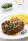 Alla milanese, cucina italiana di Ossobuco Immagini Stock