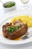 Alla milanese, cucina italiana di Ossobuco Fotografie Stock