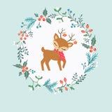alla några objekt för illustrationen för julhjortelement individuella skalar formattexturer till vektorn Royaltyfria Foton