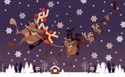 alla några objekt för illustrationen för julhjortelement individuella skalar formattexturer till vektorn arkivfoto