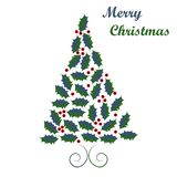 alla några objekt för illustrationen för juldesignelement individuella skalar formattexturer till treevektorn arkivfoton