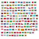 Alla officiella nationsflaggor av världsdesignvektorn vektor illustrationer
