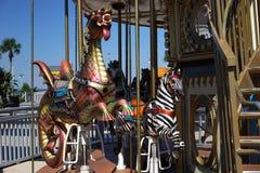Alla ombord karusellen Arkivfoton