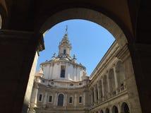 Alla Sapienza de Chiesa di Sant'Ivo foto de stock royalty free
