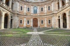 Alla Sapienza - san Yves di Sant'Ivo al cortile di Sapienza Fotografia Stock Libera da Diritti