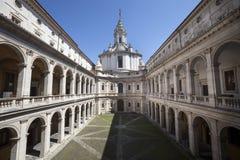 Alla Sapienza Sant Ivo, римско-католическая церковь и архивы города Рима Стоковые Фото