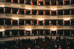 Alla Scala, θέατρο Scala, Μιλάνο, ΙΤΑΛΙΑ Teatro στοκ φωτογραφία