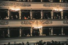 Alla Scala, θέατρο Scala, Μιλάνο, ΙΤΑΛΙΑ Teatro στοκ εικόνα
