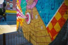 Alla seende abstrakta grafitti för öga royaltyfria bilder