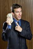 alla ser min pengar Arkivbild